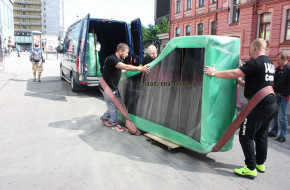 Transportation of  Grand pianos to Elena Obraztsova from Moscow to St. Petersburg